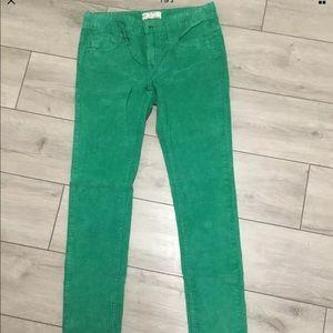 Free People Kelly green corduroy pants